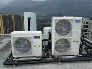 Radiant Floor Heating and Cooling with Air Source Heat Pump
